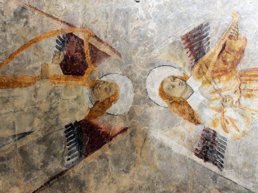 Peintures murales de l'église Notre-Dame-de-Tramesaygues (Ariège)