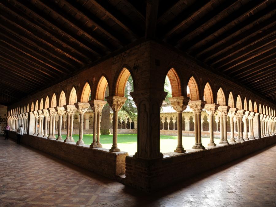 Le cloître de l'abbaye de Moissac (Tarn-et-Garonne)