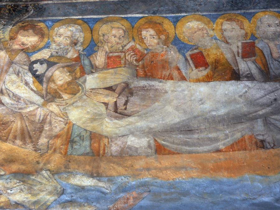Fresque de l'église Notre-Dame-du-Bourg à Rabastens (Tarn)