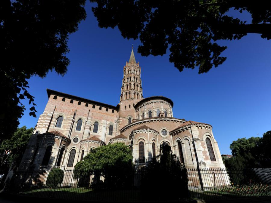 La basilique Saint-Sernin à Toulouse (Haute-Garonne)
