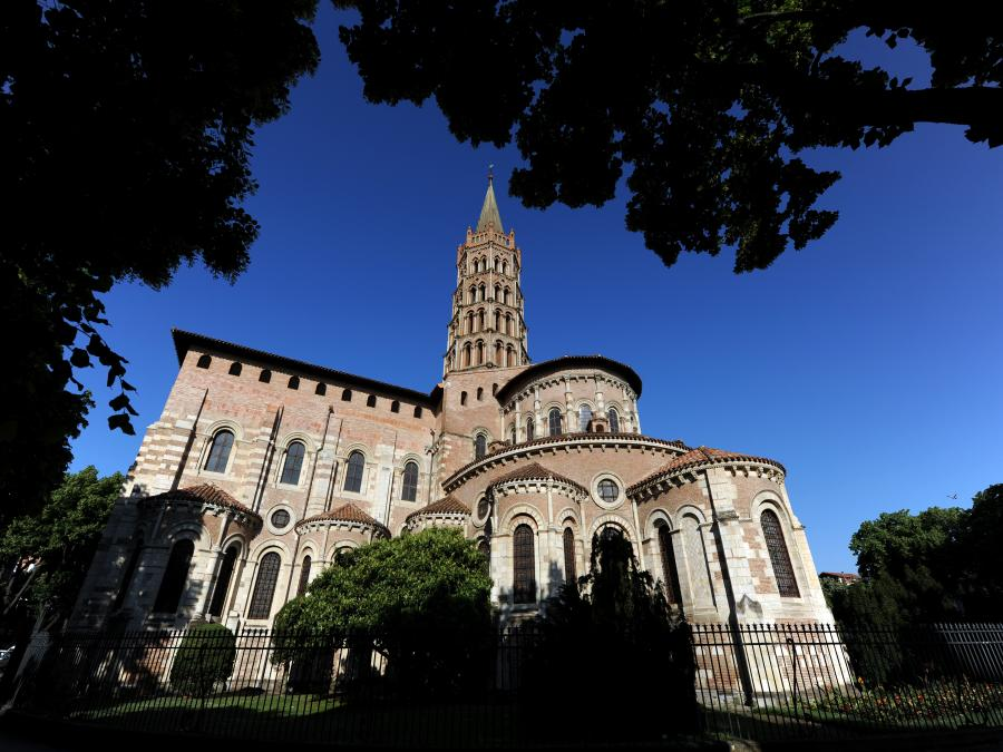 La basilique Saint-Sernin à Toulouse (Haute-Garonne)