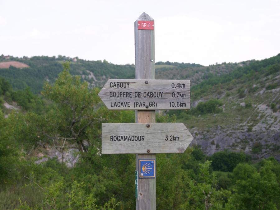 Balisage sur le chemin de Rocamadour
