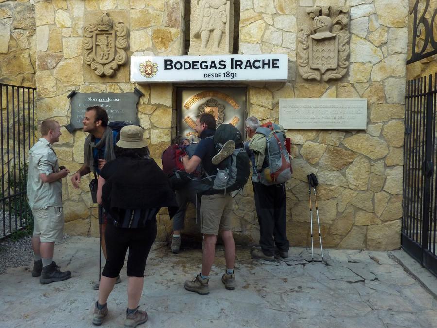 La fontaine à eau et vin de la bodega d'Irache (Espagne)