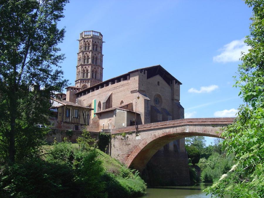 La cathédrale Sainte-Marie à Rieux-Volvestre (Haute-Garonne)