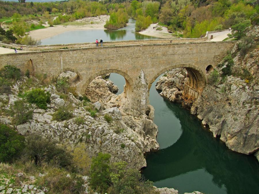 Le pont du diable à Aniane (Hérault)