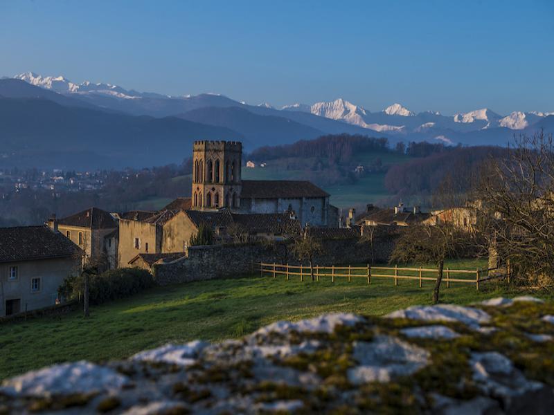 Vue de Saint-Lizier (Ariège)